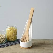 porte cuill e de cuisine multi fonctionnelle en céramique cuillère rack spatule porte