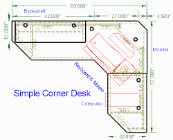 simple corner desk top view http woodwaredesigns com