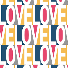 love self adhesive wallpaper in pink blue and multi by bobby