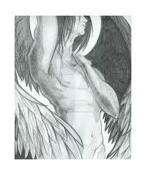 fallen angel pencil by crimsoncrowe on deviantart