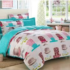 blue cute carton patterns print kids bedding sets boys
