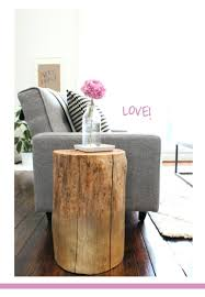 tree trunk bedside table side table tree stump side tables inky and bright two trunk table