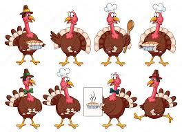 thanksgiving turkeys set stock vector pixaroma 83233452