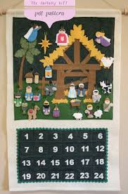 advent calendar nativity advent calendar pattern instant digital