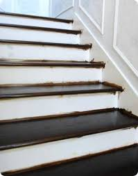 How To Stain Wood Banister Finished Staircase Centsational Style