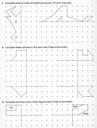 complete a simple symmetric figure with respect to a specific line