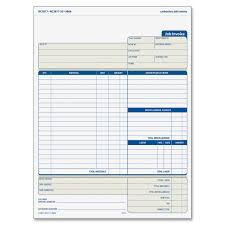 Construction Invoice Template Excel Amazon Com Tops Invoice With Materials List 3 Part