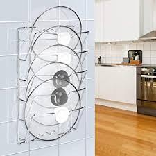 kitchen cabinet door pot and pan lid rack organizer pan lid storage rack pot lid holder wall door mounted