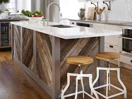 pine wood dark roast raised door make a kitchen island backsplash
