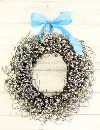 winter wedding wreath vintage wedding decor teal blue u0026 creamy