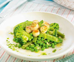 recette cuisine dietetique recette minceur légumes verts à la vapeur aux noix de jacques