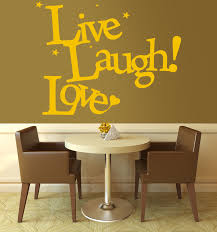live laugh love v3 wall stickers decals sunflower live laugh love v3 wall sticker in a dining room