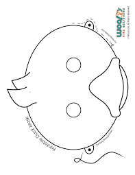 25 duck mask ideas crown printable paper