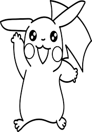 anime pikachu coloring page wecoloringpage
