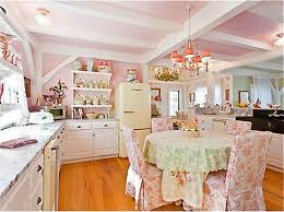Shabby Chic Kitchen Wallpaper by Pink Girly Kitchen Wallpaper Home Decor U0026 Interior Exterior