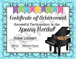 fun certificate templates easy recital prep and gift idea for students u003c can u0027t find