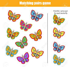 coloring page extraordinary matching pairs game stock vector for