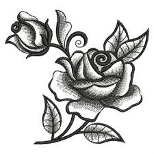 blackwork roses embroidery designs machine embroidery designs at