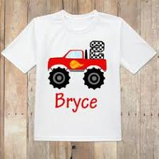 personalized monster truck birthday shirt perfect monster
