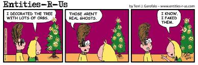 entities r us ghost hunter comic orb christmas tree