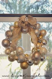 how to make a christmas wreath bauble ornament decoration youtube