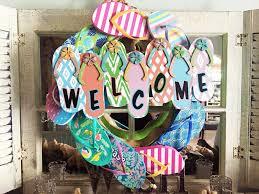 flip flop wreath flip flop wreath potter home