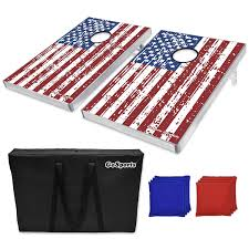 White Flag With Red Cross On Blue Square Amazon Com Gosports American Flag Bean Bag Toss Game