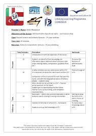aa cv writing a cv language lesson plan republic