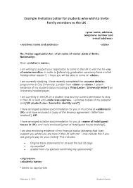 Letter Visa Application Exle Best Photos Of Invitation Letter For Visitor Visa Sle