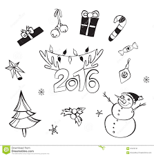 christmas decorations set vector icons design elements
