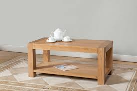 End Table With Shelves by Milano Oak Coffee Table With Shelf Oak Furniture Solutions