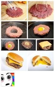 astuce cuisine facile 11 mettre un œuf au milieu de steak haché hacks 11