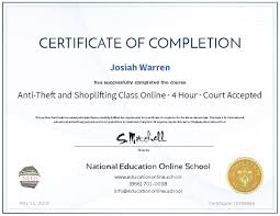 theft class online anti theft and shoplifting class online 4 hour court accepted