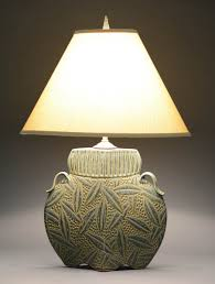 sage arts and crafts lamp jim u0026 shirl parmentier pottery