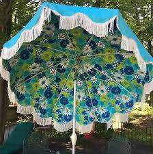 Vinyl Patio Umbrella Vintage Finkel Aluminum 8 Vinyl Patio Umbrella Floral Tilt Crank