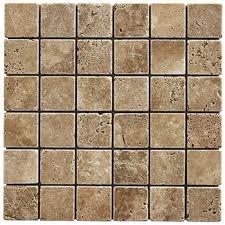 Tumbled Travertine Noce Mosaics Kitchen Backsplash Stone - Noce travertine tile backsplash