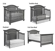 Convertible Crib Bed by Oxford Baby London Lane 4 In 1 Convertible Crib Arctic Grey
