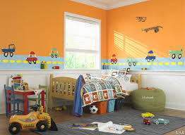 kids room kids bedroom stunning orange and green paint boys