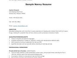 resume sample for nanny stylish ideas nanny resume template 11 doc596842 sample resume of download nanny resume template