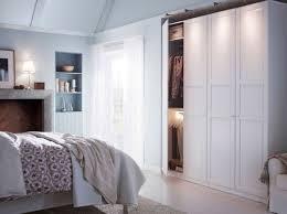 chambre coucher adulte ikea gris intérieur éclairage particulièrement grande armoire dressing
