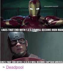 Iron Man Meme - etonystark ironman likes that end with 13579 will become iron man