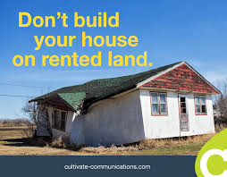 build your house content distribution don t build your house on rented land