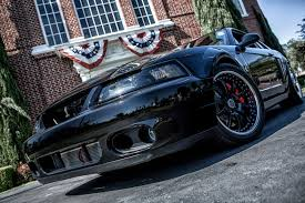 Black 2003 Mustang 18x9 18x11 Three Piece Super Sport In Satin Black With Chrome Lips