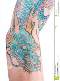 blue dragon tattoo on arm stock photo image 57552602