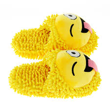 friends emoji home fuzzy friends slippers smiley face emoji