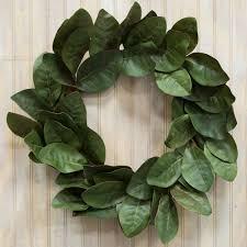 magnolia leaf garland 22 green magnolia leaf wreath 19828wr craftoutlet