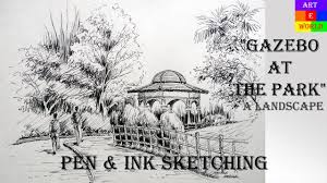 pen u0026 ink sketching landscape tutorial lessons video