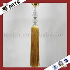Gold Curtain Tassels China Gold Crystal Curtain Tassel Tieback Silk Thread For Tassels
