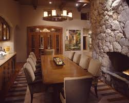 Dining Room With Fireplace by Big Dining Room Table Home And Furniture