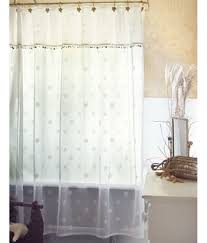 Sheer Shower Curtains Seaside Lace Shower Curtain 72 50 White Or Matching